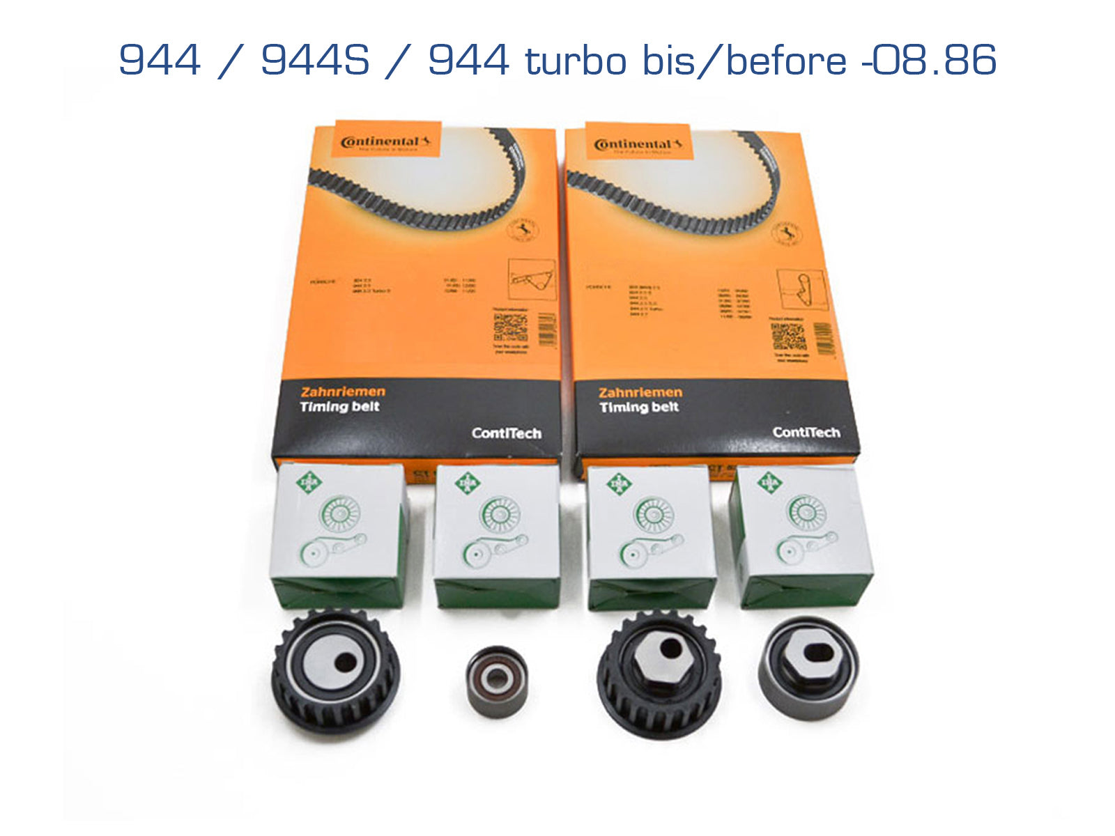 Porsche 924S / 944 / 944 turbo 2.5 to -'87 cam Timing balance Belt Kit - Porsche Spares UK Ltd