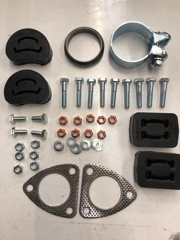 Porsche 924S 944 2.5 exhaust fitting kit. (LB233) - Woolies Workshop - Porsche 924 944 spares