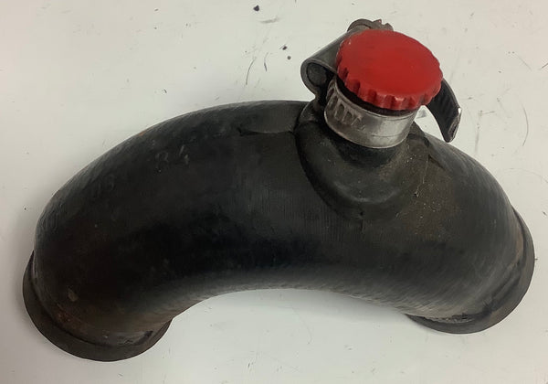 Porsche 924 2.0 coolant bleed / breather hose 047 121 075 USED ((cb10a)) with red vent screw - Woolies Workshop - Porsche 924 944 spares