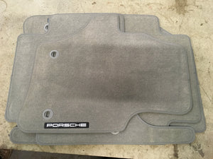Porsche Cayenne carpet mat set - grey. New.  95504480060 - Porsche Spares UK Ltd