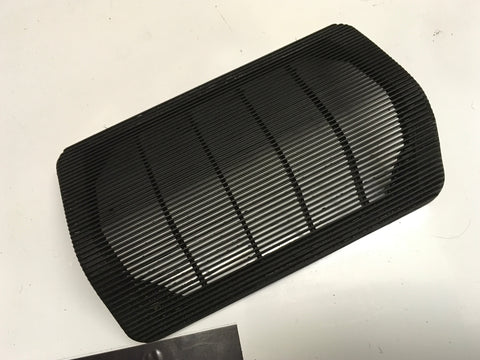 Porsche 924 944 square dash centre speaker grill cover. Black. 477 857 187 ((C16)) - Woolies Workshop - Porsche 924 944 spares