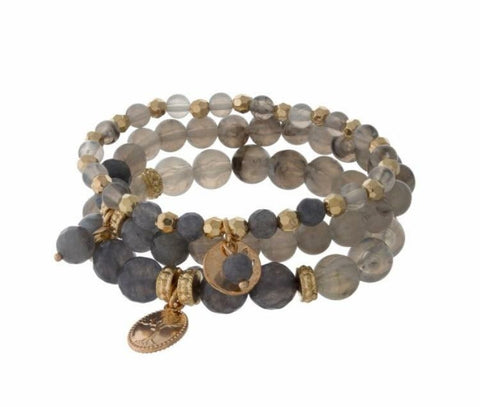 Shades of Gray- Bracelet - Shop Poppy Lane