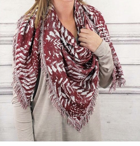 Always Aztec- Blanket Scarf - Shop Poppy Lane