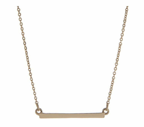 Simply Sweet- Crossbar Necklace - Shop Poppy Lane
