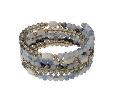 Layered Iridescence- Bracelet - Shop Poppy Lane