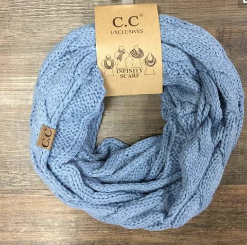 CC Infinity Scarf- Blue Denim - Shop Poppy Lane