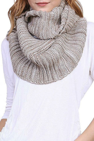 Wrapped in you- Wooden Button Knit Scarf - Shop Poppy Lane