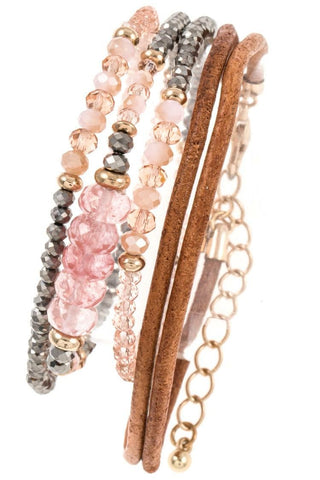 Make me Blush- Bracelet Set - Shop Poppy Lane
