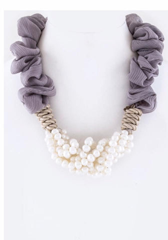 Ruffle My Pearls- Necklace - Shop Poppy Lane