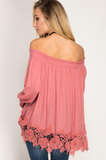 Pretty In Pink- Off the Shoulder Top - Shop Poppy Lane