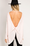 Tickle Me Pink- Backless Top - Shop Poppy Lane