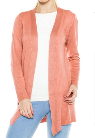 Spring Breeze Cardigan- Coral - Shop Poppy Lane