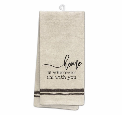 Home is wherever I'm with you- Tea Towel - Shop Poppy Lane
