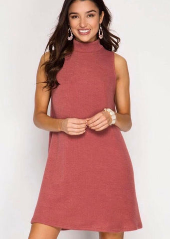 Falling for you shift dress - Rust - Shop Poppy Lane
