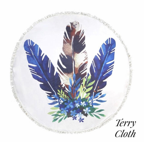 Boho Feather Beach Roundie - Shop Poppy Lane