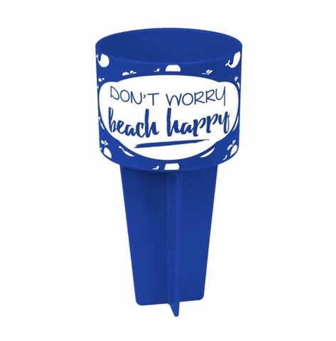 """Don't Worry Beach Happy"" Beach Spiker"
