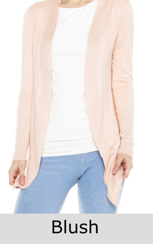 Spring Breeze Cardigan- Blush - Shop Poppy Lane
