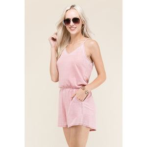 Blush Burnout Romper