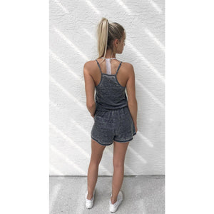 Charcoal Burnout Romper