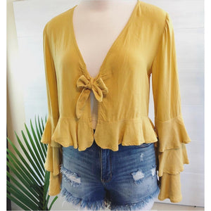 Sunflower Blossom Tie Top