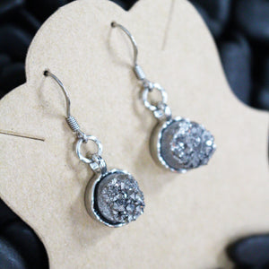 Silver Stone Earrings