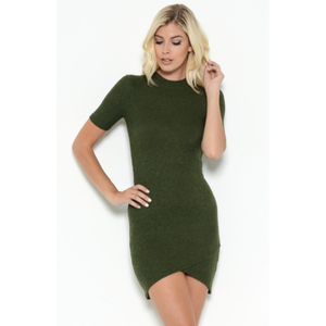 Olive Cozy Chic T-shirt Dress