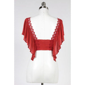 Fireball Ruffled Crop Top