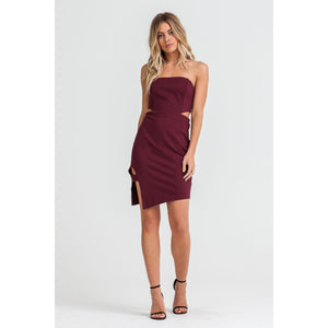 Merlot Cut-Out Dress