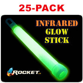 INFRARED GLOWSTICK: 25-PACK