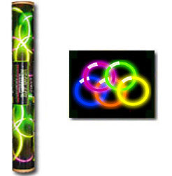 GLOW NECKLACE: TUBE OF 50 (ASSORTED COLOURS)