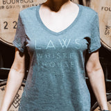 Ladies Short Sleeve Tee-Grey