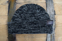 Soft-Knit Beanie-Black/Gray