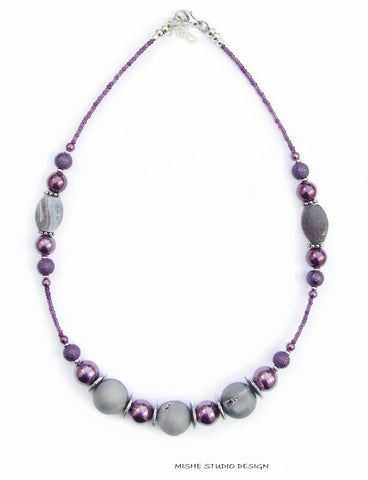 Druzy Quartz/Agate Necklace - 18220N