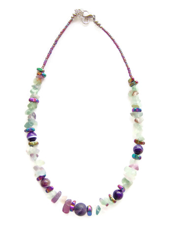 Amethyst and Fluorite Necklace - 20130N