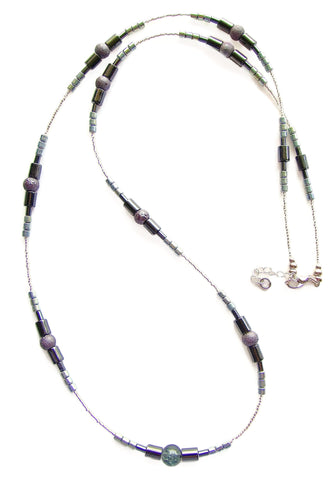 Long Hematite Necklace - 20122N