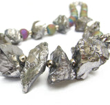 Statement Necklace in Silver Rock Crystal - 19212N