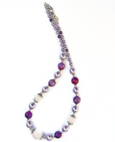 Rose Quartz and Amethyst Necklace - 20136N