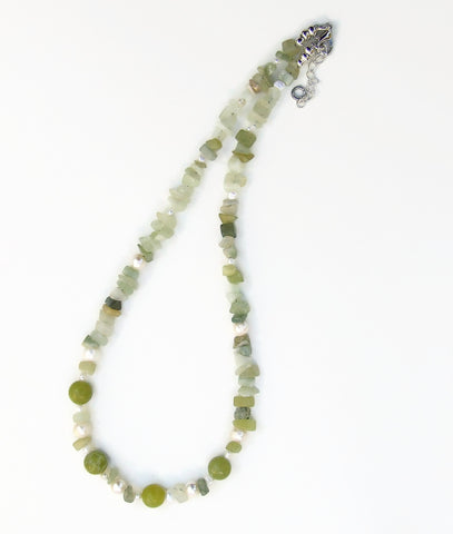 Jade and Pearl Necklace - 20114N