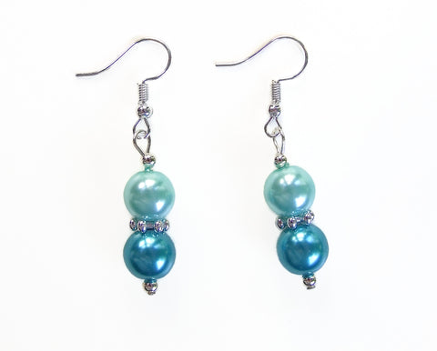 Two-tone Pearl Earrings - 20109ER