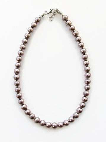 Mink colour pearl necklace - 17052N
