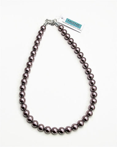 Taupe pearl necklace - 17055N