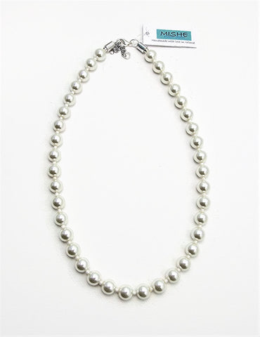 Ivory pearl necklace - 17049N