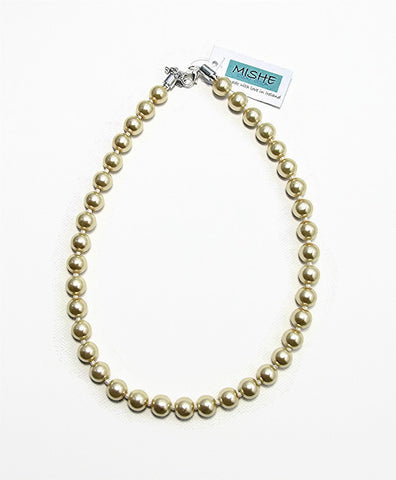 Cream pearl necklace -  17051N