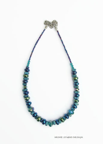 Crystal and Gemstone Necklace - 18203N