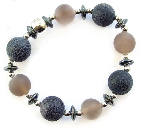 Agate and Hematite Bracelet - 18215BR