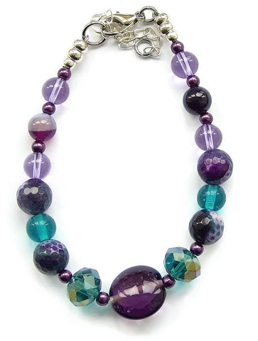 Teal and Purple Bracelet - M18246br
