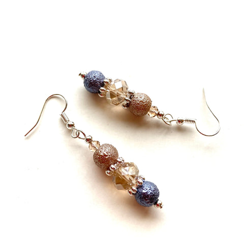 Crystal and Textured Pearl Earrings 19228ER
