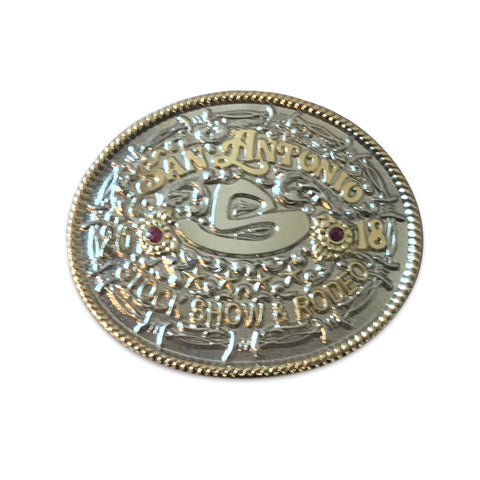 BUCKLE LAPEL PIN