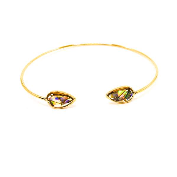Macy Bracelet - Gold + Abalone {The Gemstone Collection}