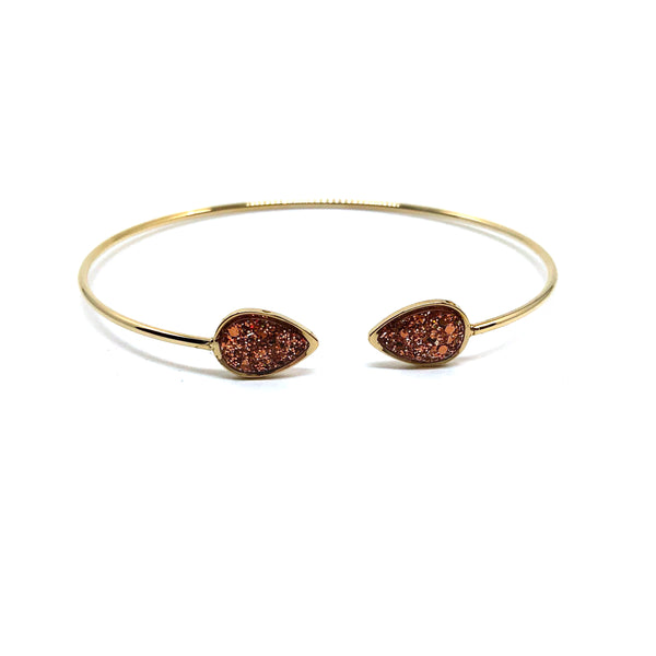 Macy Bracelet  Gold + Copper Glitter
